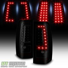 Black Smoke 2003-2006 Chevy Silverado 1500 2500 3500 LED Tail Lights Brake Lamps