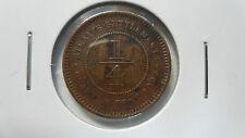 Straits Settlements 1/4 Cent, 1905, VF-