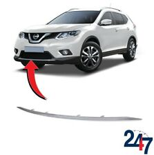 FRONT BUMPER CHROME GRILL MOLDING COMPATIBLE WITH NISSAN X-TRAIL 2014-2018
