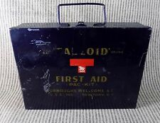 1940's Tabloid Aircraft No 2 First Aid Kit, ORIG CONTENTS, Burroughs Wellcome