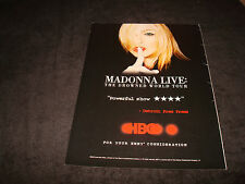 MADONNA Emmy ad for The Drowned World Tour on HBO 'Powerful Show'