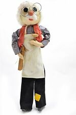 """Hand Made Doll Puppet Wall Hanging Italy 21"""" Giuseppe Woodworker Craftsman"""