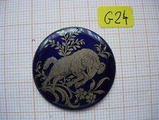 Petit médaillon émail Belier émaillé bijoux montre enamel zodiaque p24