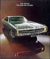 1969 Chrysler Color Sales Catalog Literature New Yorker Newport 300 Brochure OEM