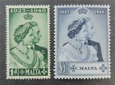 nystamps British Malta Stamp # 223.224 Mint OG NH $41