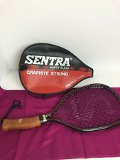 Sentra Nightstalker Racquetball Racquet w/ curved handle and Case