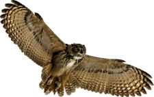 Great Horned OWL Flying Soaring Wings Wildlife Bird - Window Cling Decal Sticker
