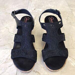 Skechers Memory Foam Black Sandals size 7