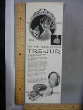 Rare Orig VTG 1924 Tre-Jur Cosmetics Juanita Nunn Compact Advertising Art Print