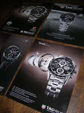 4 x full-page Heuer Carrera Calibre chronograph adverts: 1887 & 16