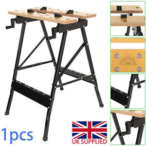 NEW FOLDABLE WORKBENCH PORTABLE WORK CLAMPING FOLDING WORKTOP TABLE UK