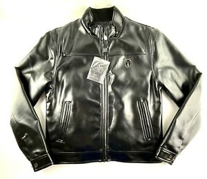Reportage RGA Italy Style Black Leather Jacket Mens Sz XL New With Tags Lined