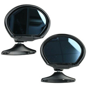 Car Rearview Mirrors Vintage Classic Door Wing Side Mirror Black 2Pcs Universal