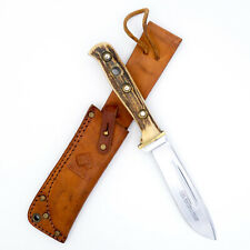 1971 PUMA Germany Hunting Knife 6398 HUNTERS FRIEND Stag ORIGINAL SHEATH