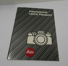 International Leica Passport ( R4 era )