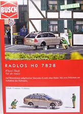 H0 BUSCH Radlos Mercedes Kombi ohne Räder Betonsteine Polizei Diebstahl # 7828