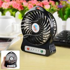 Mini Portable 3 Speed USB Fan High Speed Rechargeable Lithium Battery LED Light