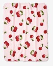 New Victoria Secret PINK Sherpa Blanket Cherries Cherry Cozy 50x60 Soft Warm