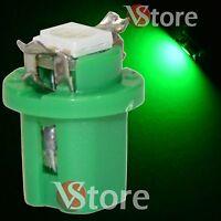 2 LED Per Cruscotto Quadro Strumenti T5 B8.5D SMD Verdi Lampade Luci Lampadine