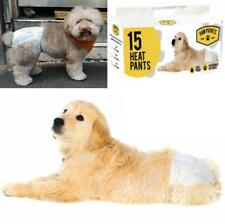 Pack Of 15 Disposable Elasticated Female Dog Nappies Seasonal Heat Pads S,L