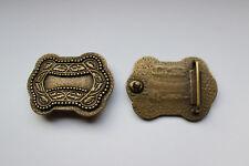 Gürtelschnalle, Gürtelschließe, Metall, Verziehrung, messing, ca. 35 mm