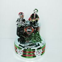 Harley Davidson North Pole Motorcycle Club Music Box Snowman Jingle Bell Rock
