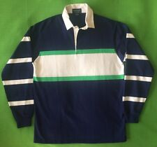 XL Vintage GANT The Rugger USA Rugby Shirt Jersey NAVY Blue KELLY GREEN Sailing