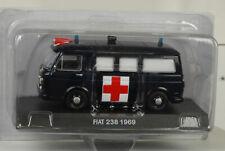 Fiat  238 1969 Ambulance schwarz diecast 1:43 IXO De Agostini Magazine
