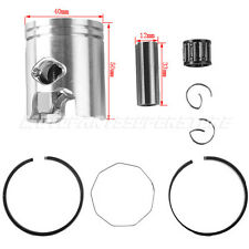 40mm Piston Ring Set Kit for 49cc 50cc 2 stroke Engine  Scooter Moped