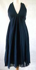 MOSCHINO CHEAP & CHIC halter neck twist back french navy blue goddess dress 10