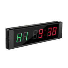 Programmable LED Interval Timer Stopwatch with Remote Wall-mounted for Fitness