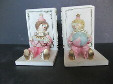 Clown Book Ends very sturdy, Ceramic cute & very collectable