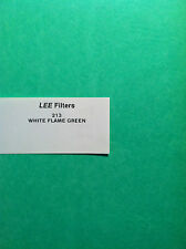 "Lee Filters L213  White Flame Green Gel Sheet  21"" x 24"""