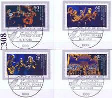 Berlin 1988: Jugend musiziert! Nr. 807-810 mit Ersttags-Sonderstempeln! 1A 1602
