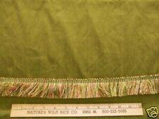 FAUX SILK SPRING BUD GREEN Fabric  with TRIM