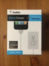 Apple MFi Certified Belkin Micro Charger + Cable 30 pin iPod iPhone 1A 4ft