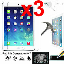 X3 Full 9h Tempered Glass Apple iPad 5 Screen Protector 9.7 5th Generation 2017