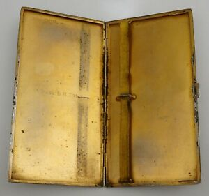 Large and heavy vintage sterling silver cigarette case London 1937, 165mm, 218g.