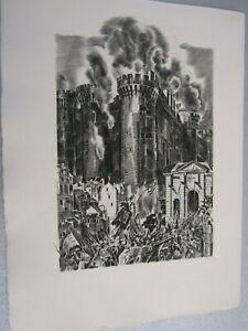 Albert Decaris / Composition originale gravée sur cuivre / 14 Juillet