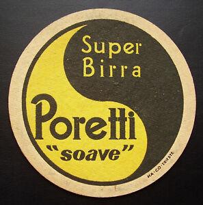 alter Bierdeckel Italien / Italia - Birra Poretti