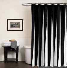 Black White Fabric Shower Curtain Liner Polyester Waterproof Bathroom Decor