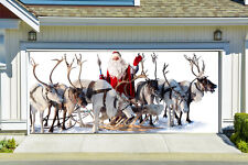 Christmas Garage Door Covers 3D Banners Outside House Decorations Billboard G26