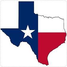 Autocollant sticker voiture moto carte texas drapeau etats unis usa
