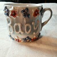 Vintage Small Raised Script Mug for Baby Boys or Girls made in Germany