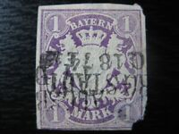 BAVARIA BAYERN GERMAN STATES Mi. #30 scarce used stamp! CV $120.00