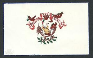 Y43 - FESTIVE MAN - GOODALL - FINE EARLY EMBOSSED PRINTING - VICTORIAN XMAS CARD