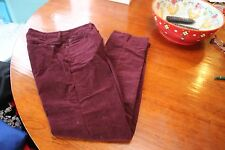 NWOT NYDJ Not Your Daughter's Jeans Size 0 Straight Leg Purple Micro Cord Pant