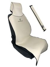 """Tan Car Seat Cover for Sweat after Gym/Run/Boxing, Spills, and Pet Fur 22""""x59"""""""