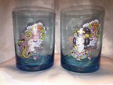 Ed Hardy Blue Drinking Glasses