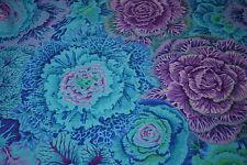 1/2 Yard Kaffe Fassett: Brassica - Blue Cotton Quilting Fabrics